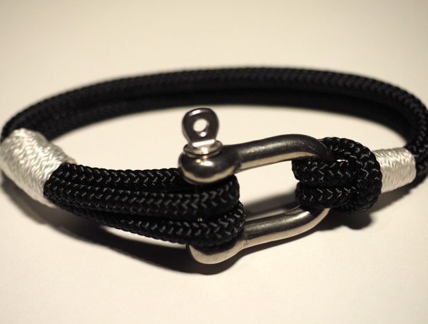 Stainless shackle handmade nautical bracelet