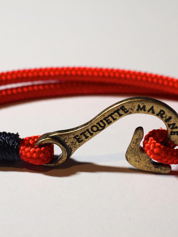 Hook - Red with Navy //Antique finish