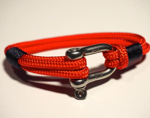 Stainless shackle handmade nautical bracelet