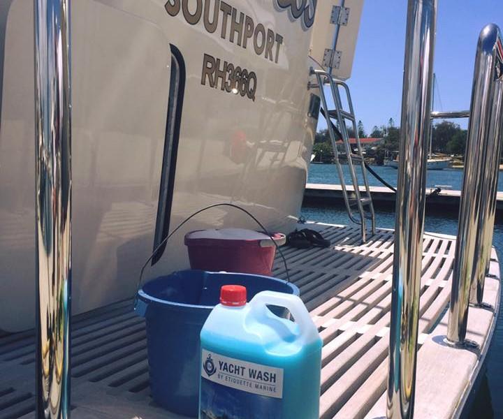 Yacht Wash By Etiquette Marine onboard